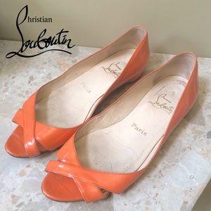 Authentic Christian Louboutin - orange flats - 37!